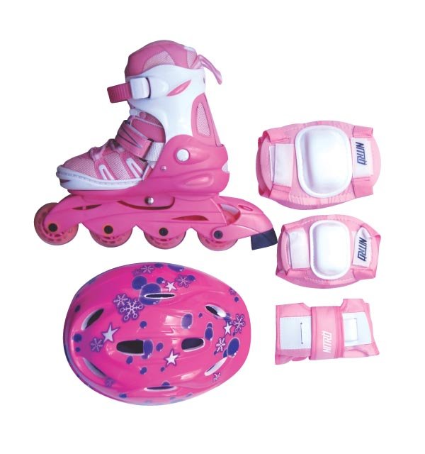 JUNIOR ADJUSTABLE INLINE SKATE FULL SET